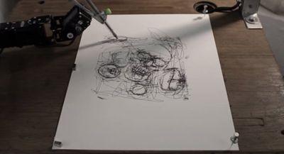 法艺术家研制智能机器人会自主作画