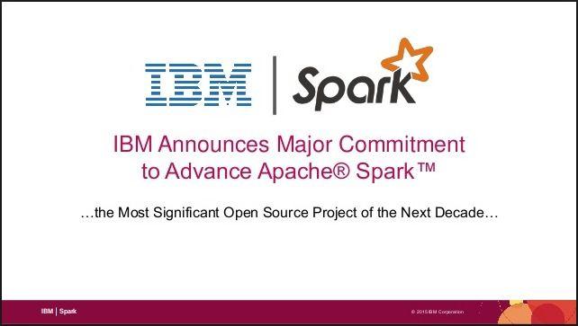 IBM与Spark合作 引领机器学习新时代