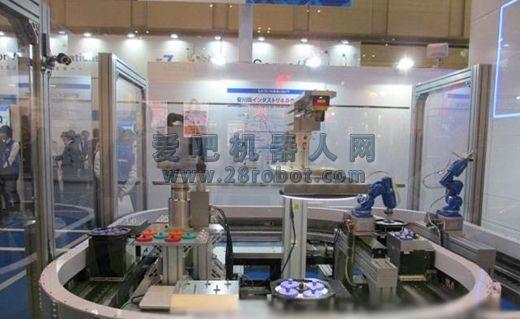 """安川电机演示""""安川版工业4.0""""概念实体化生产线"""