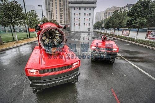 蚌埠支队消防灭火机器人配备到位 火灾救助能力再次提升