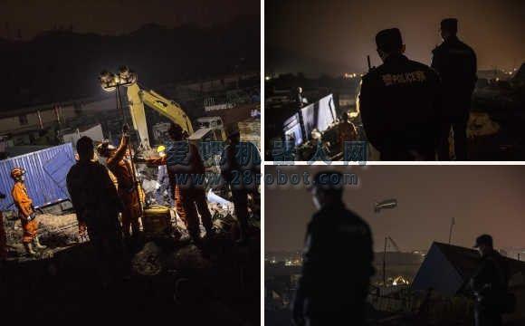 深圳滑坡现场挖出第1具遇难者遗体 无人机搜救有功