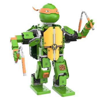 优必选忍者龟-米开朗基罗智能积木机器人电动遥控拼装玩具