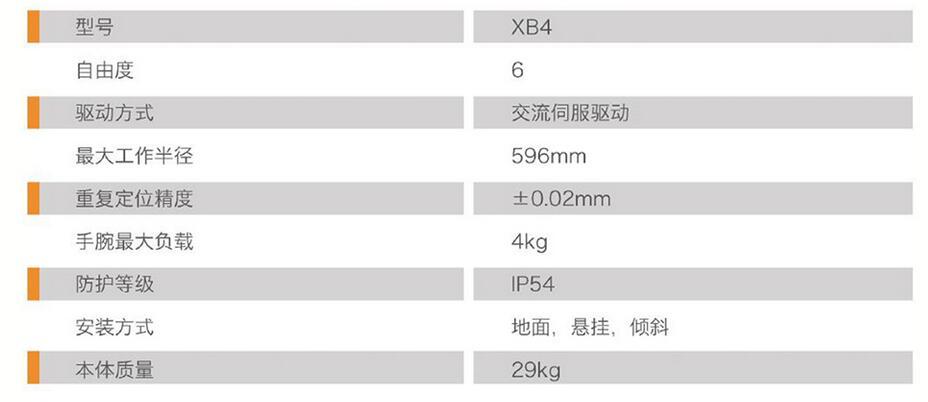 珞石XB4工业机器人参数