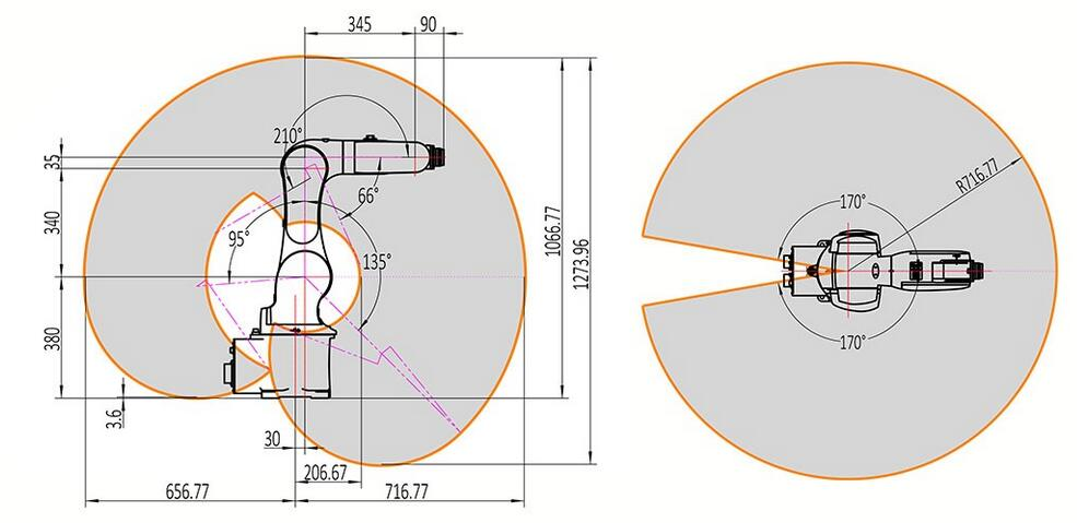 珞石XB6工业机器人