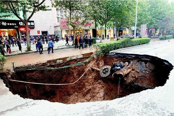 城市地下管网塌陷