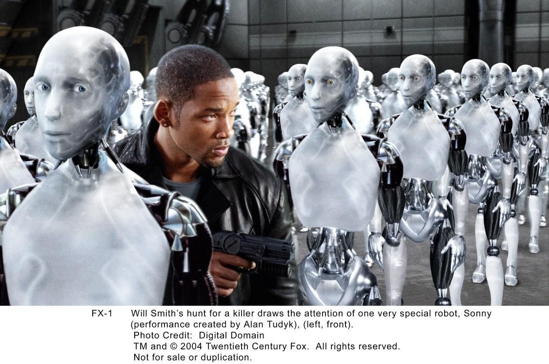 威尔史密斯在电影《我,机器人》中