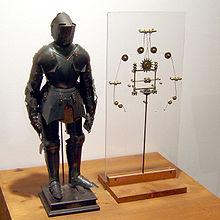 达芬奇设计的机器人模型