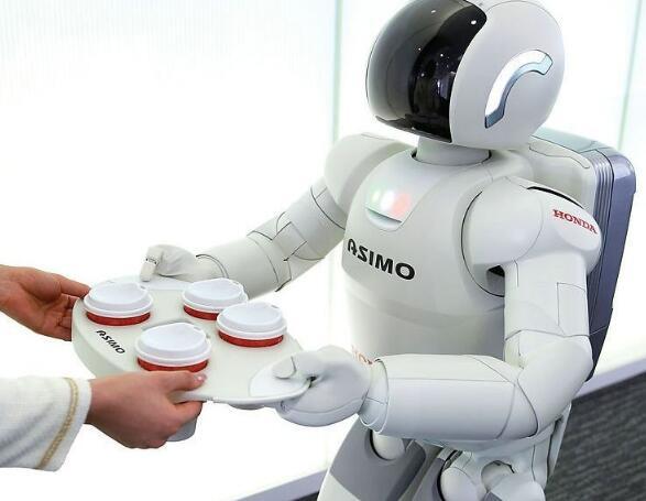 阿西莫Asimo机器人为您端茶送水