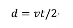 用声音测量距离的公式