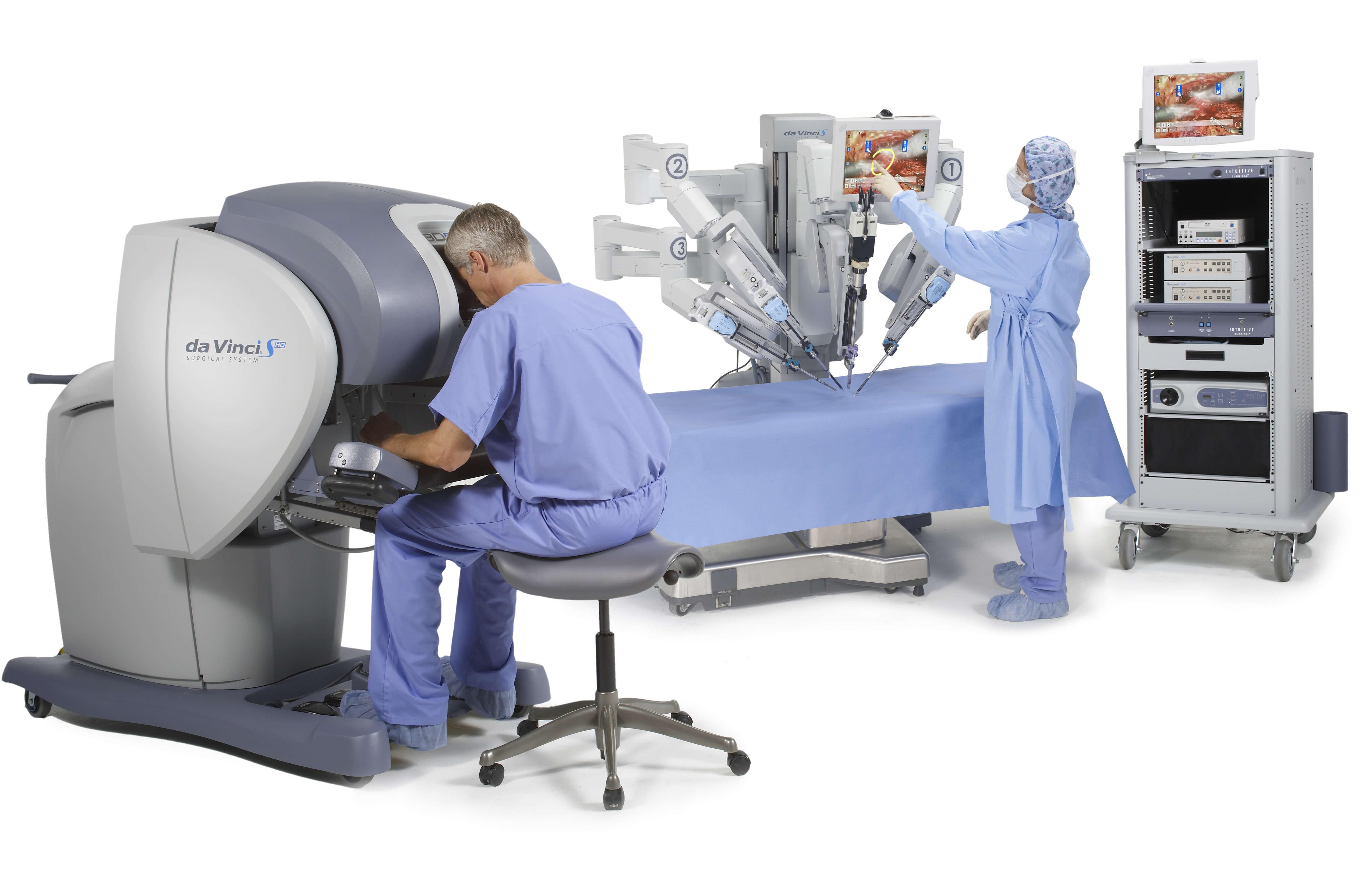 达芬奇手术机器人手术演示图