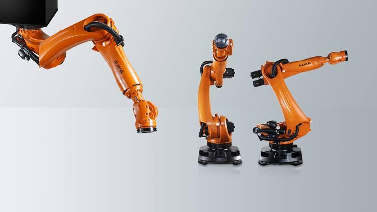 冲压连线机器人拥有非常大的作用范围。KR QUANTEC press 轻松胜任冲压车间中的搬运任务