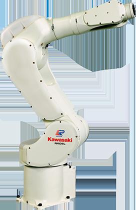 RA005L手臂小巧,最适合用于小型物品的焊接。 RA005L 概述:  负载 5 kg 轴数 6 伸展距离 903 mm 重复性 ±0.03 mm