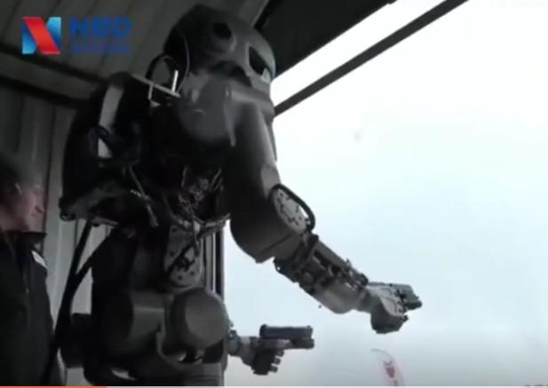 俄罗斯最新作战机器人FEDOR