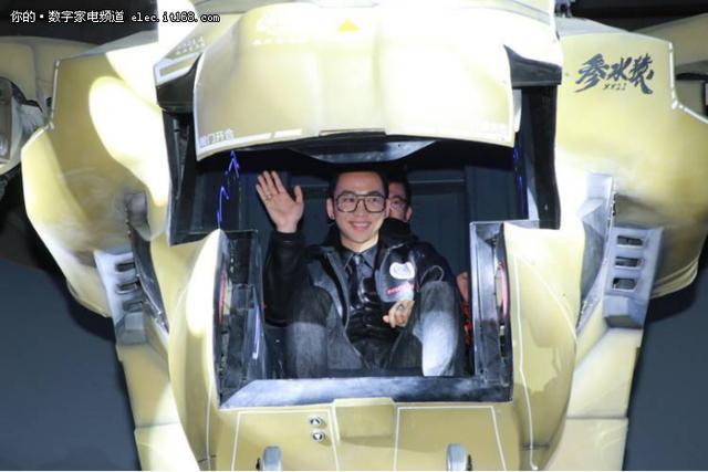 中国首个无助力外骨骼机甲将亮相零一科技节