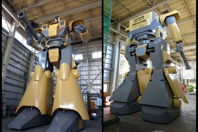 日本工程师建造的未来兵器28英尺高功能高达迈克机器人