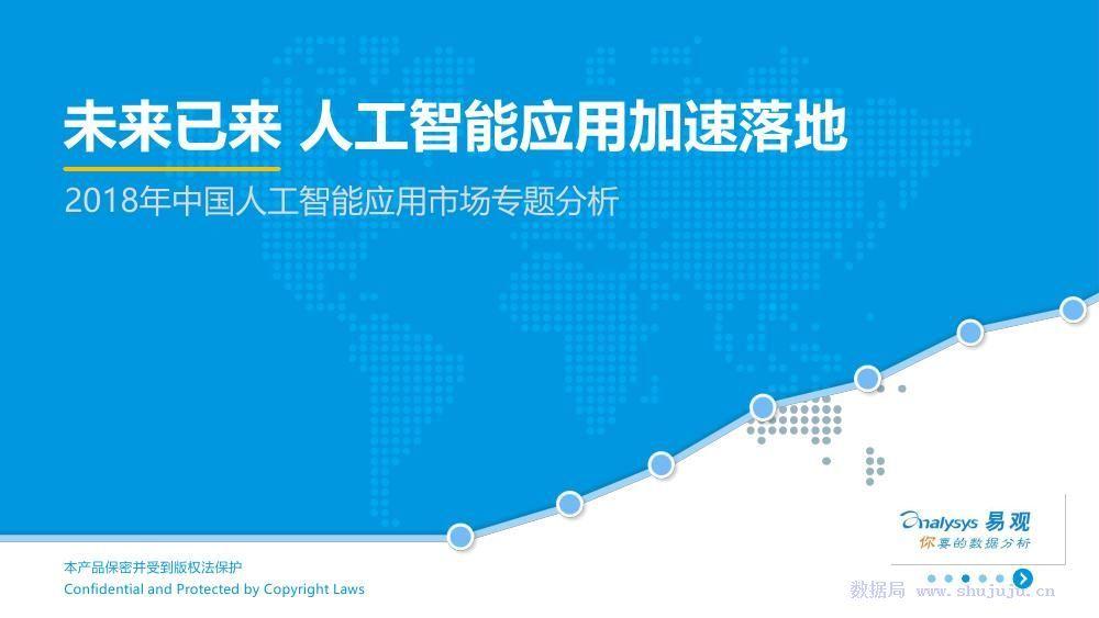 易观:2018年中国人工智能应用市场专题分析