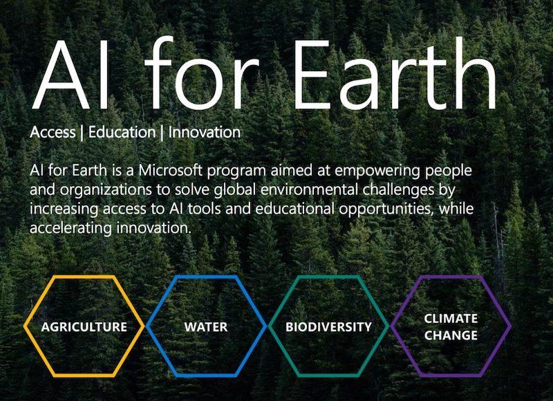 微软宣布人工智能地球AI for Earth创新奖获得者