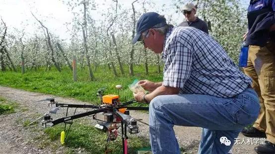 无人机帮助花粉传播,果园产量上升50%