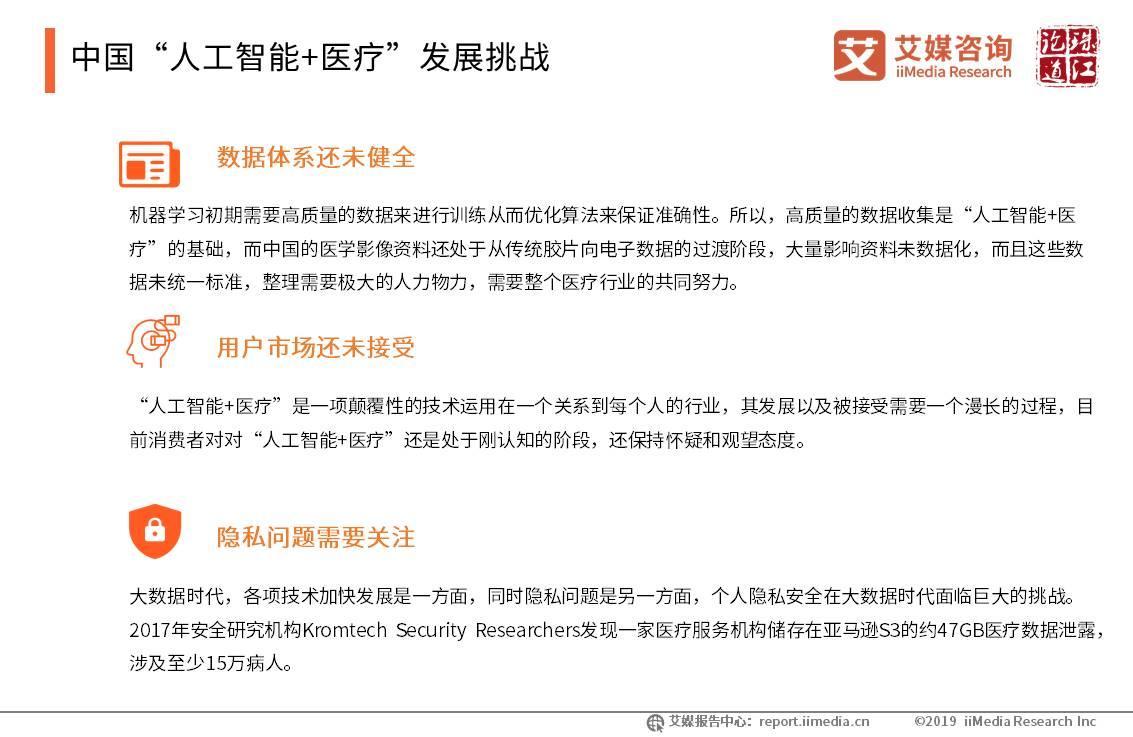 """中国""""人工智能+医疗""""发展挑战"""