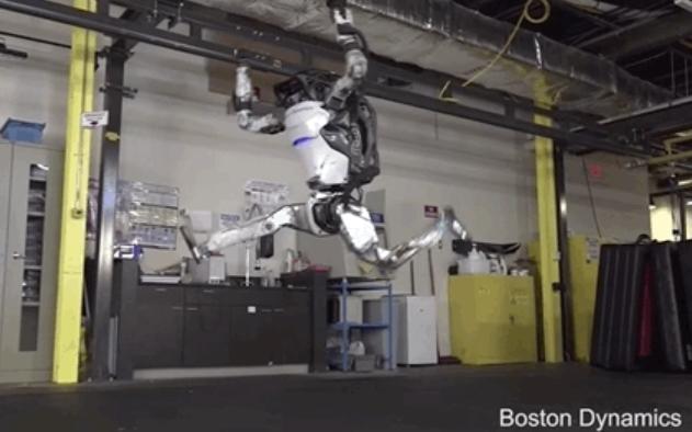 波士顿动力再发逆天机器人视频:倒立、360°旋转、空中劈叉