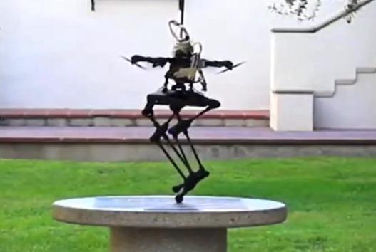 这个双足机器人是一种有腿的飞行无人机