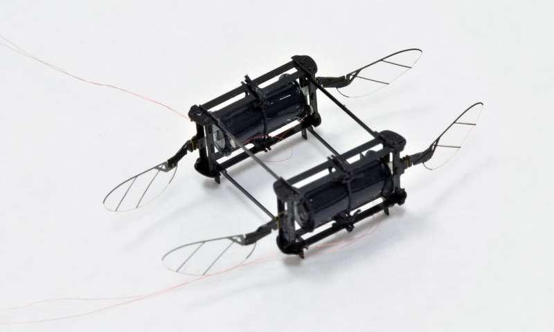 哈佛大学《自然》发表新驱动技术,让飞行机器人悬停且不受损伤