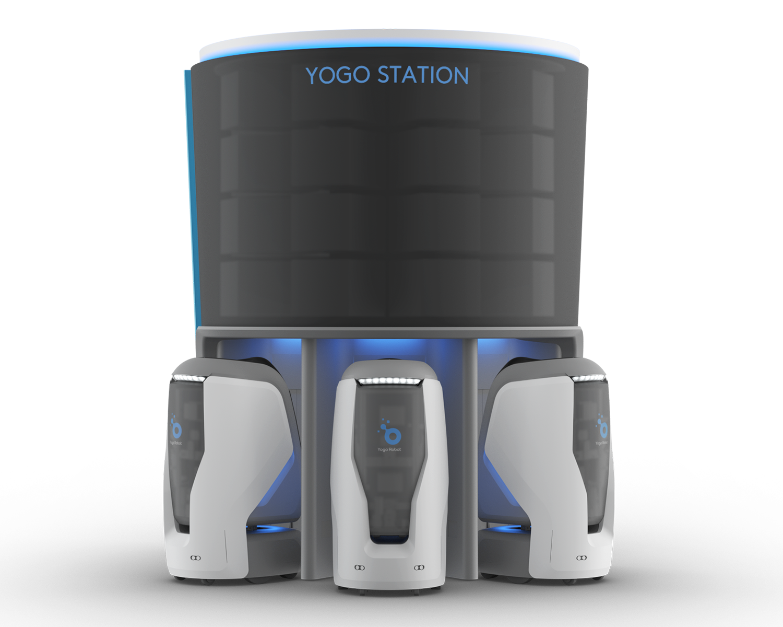 YOGO智能机器人配送站