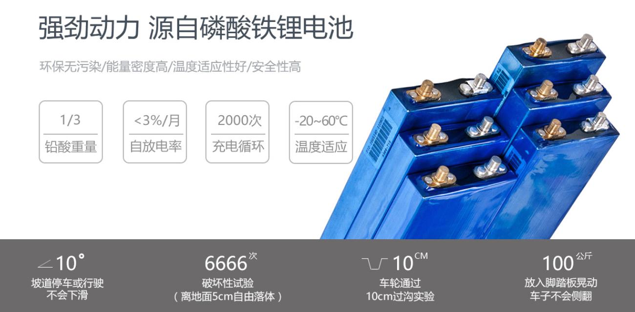 动力强劲的磷酸铁锂电池