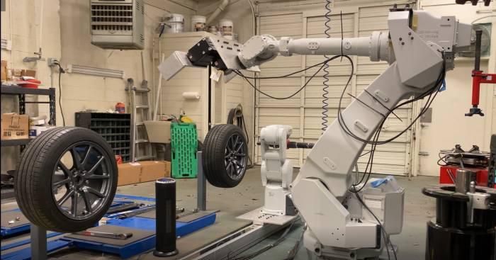 机器人轮胎更换系统问世 更换速度远超人类员工